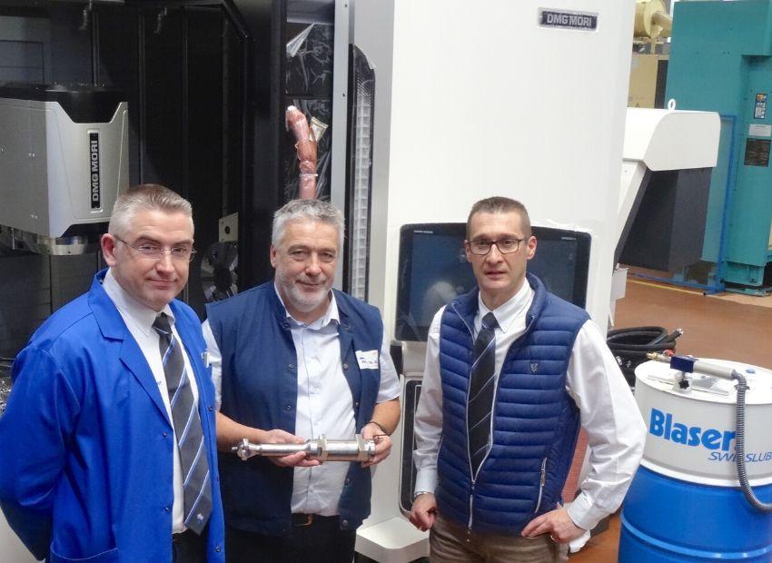 Equipe Lubrification Blaser & MCSA SIPEM pour une vraie performance en usinage